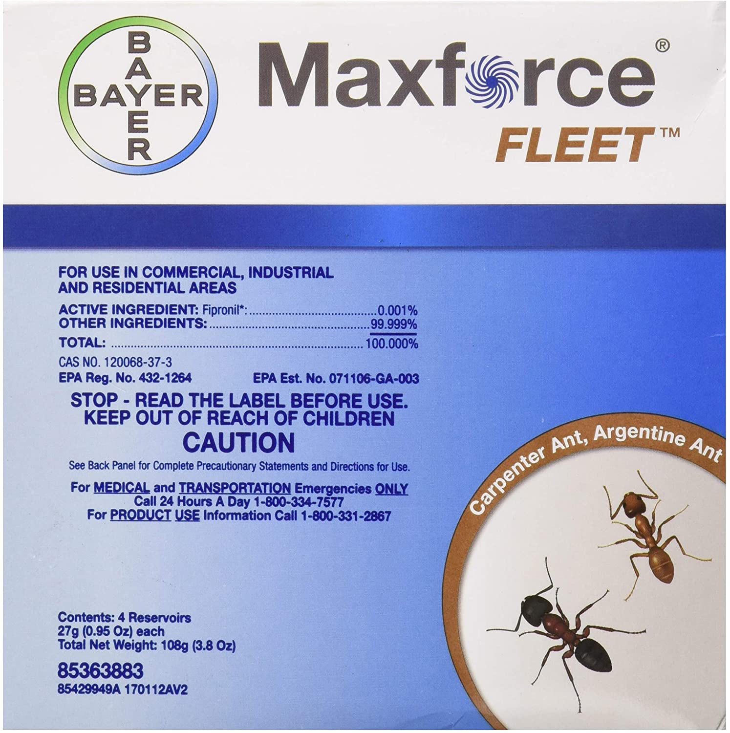 Bayer 10072 Max Force Fleet Ant Gel Bait