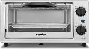 COMFEE' Compact Stainless Steel Countertop Toaster Oven