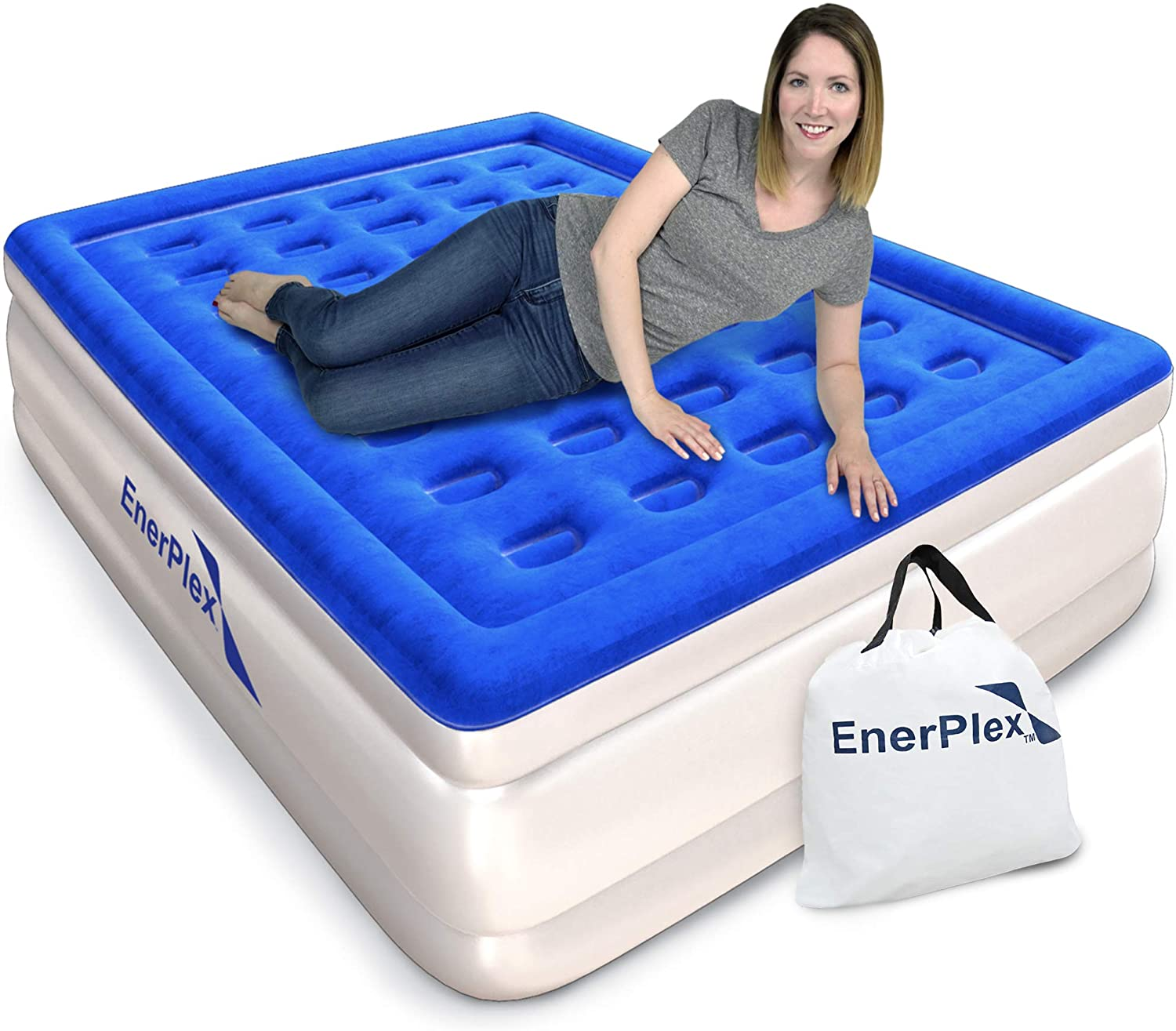 EnerPlex Never-Leak Raised Blow Up Mattress