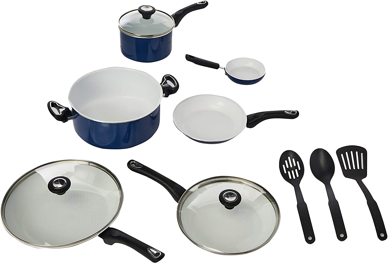 Farberware Ceramic Dishwasher Safe Nonstick Cookware, 12-Piece