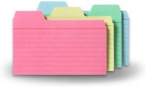 Find-It Tabbed 3 x 5 Index Cards, 48-Count