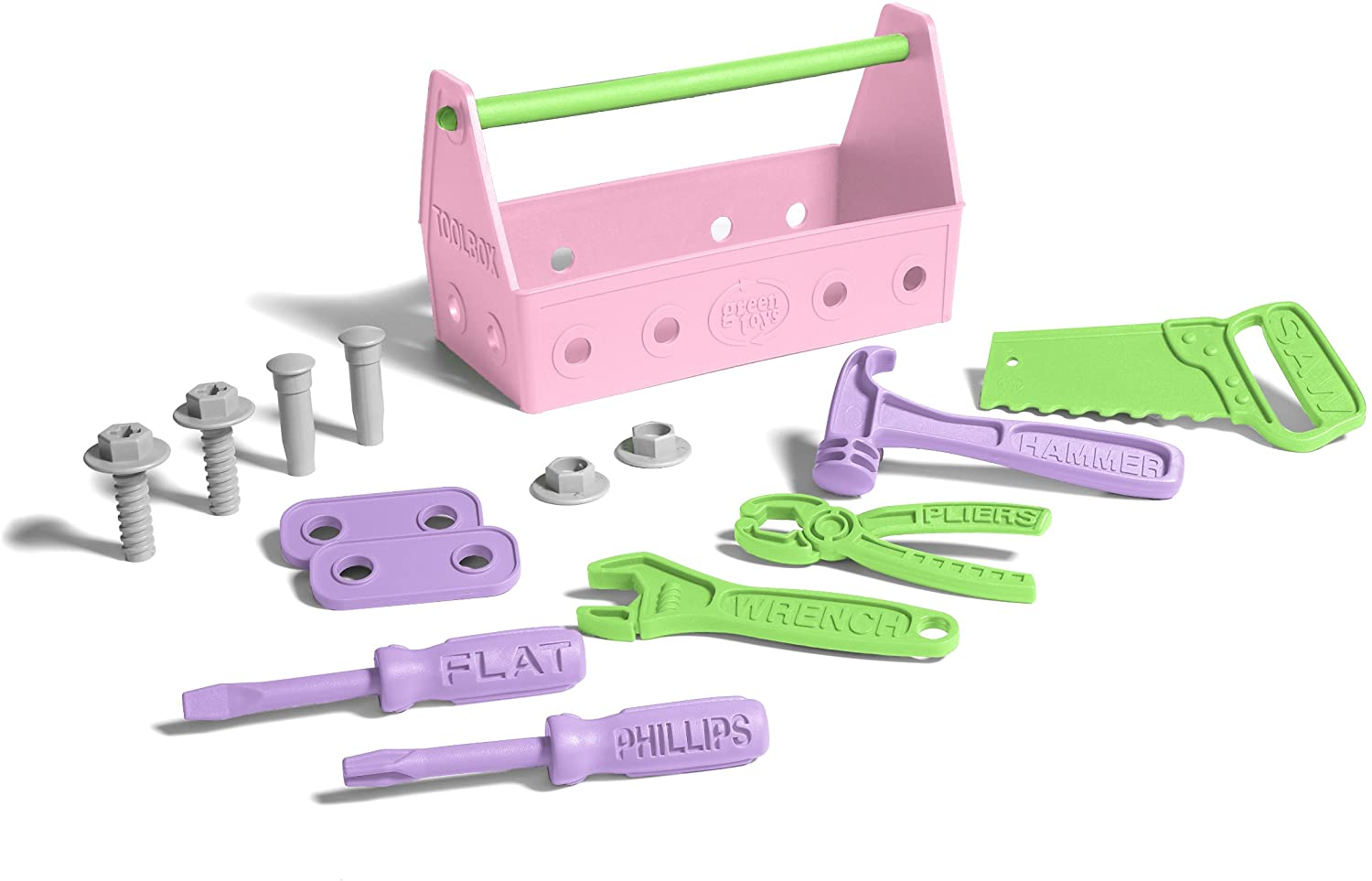 Green Toys Pink Play Toolset For Kids