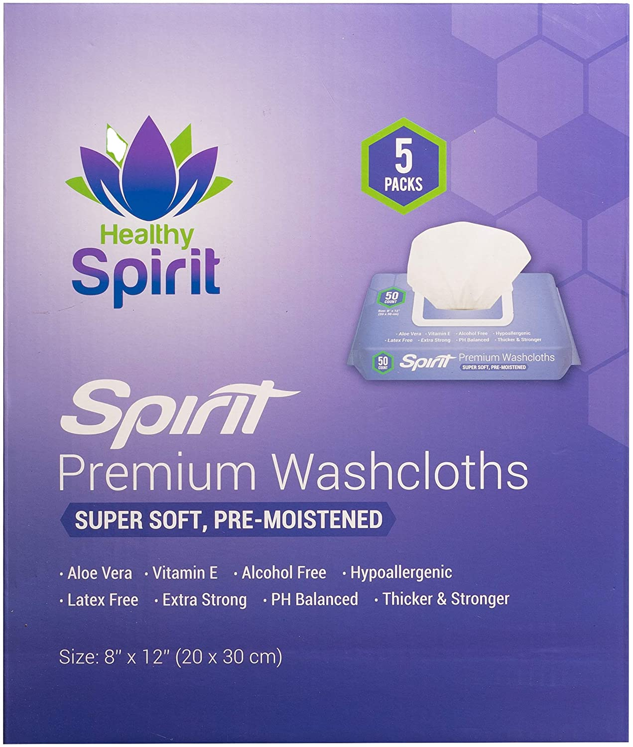 Healthy Spirit Incontinence & Cleansing Disposable Wet Wipes For Adults, 250-Count