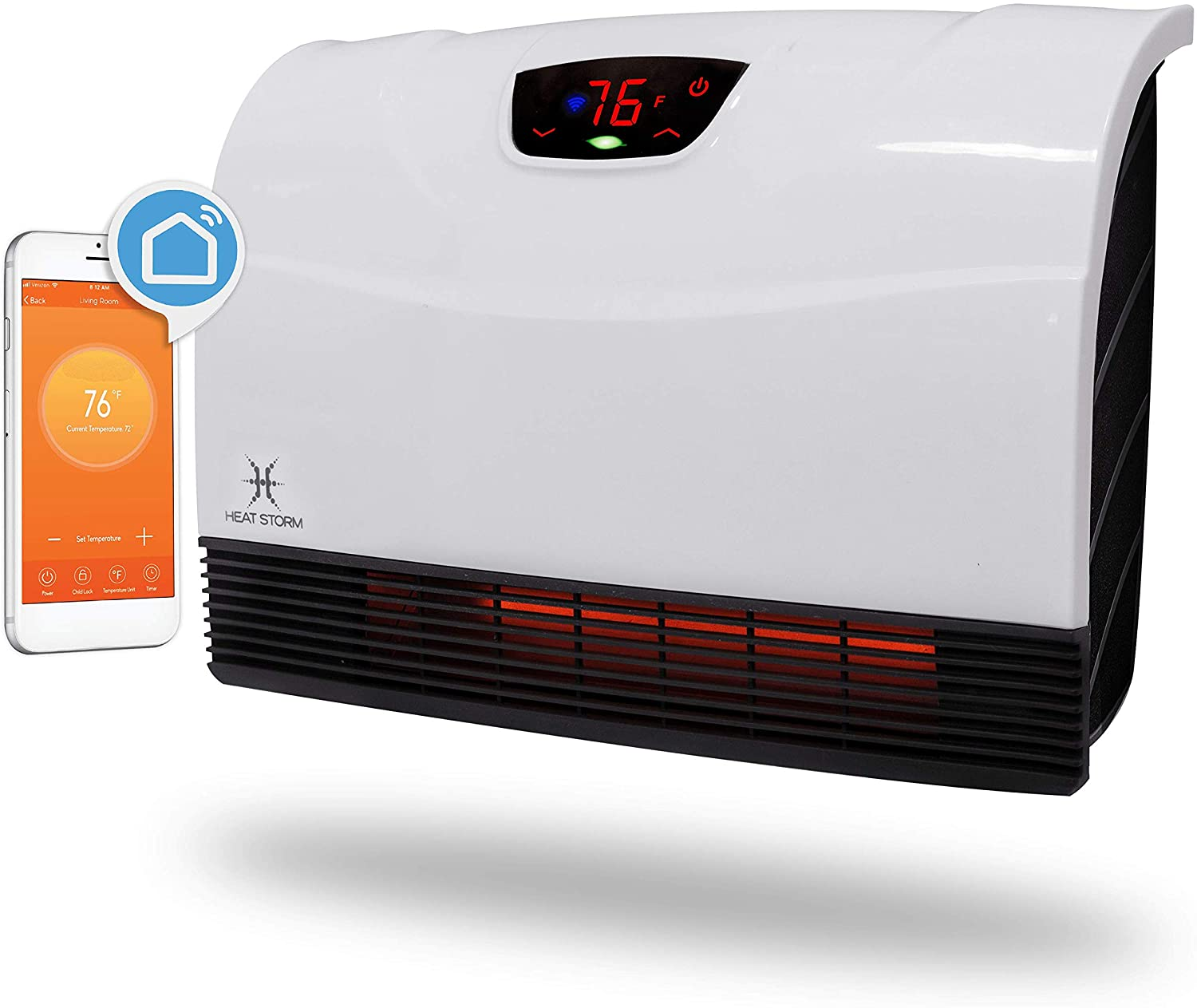 Heat Storm HS-1500-PHX-WIFI Infrared Wifi Wall Heater