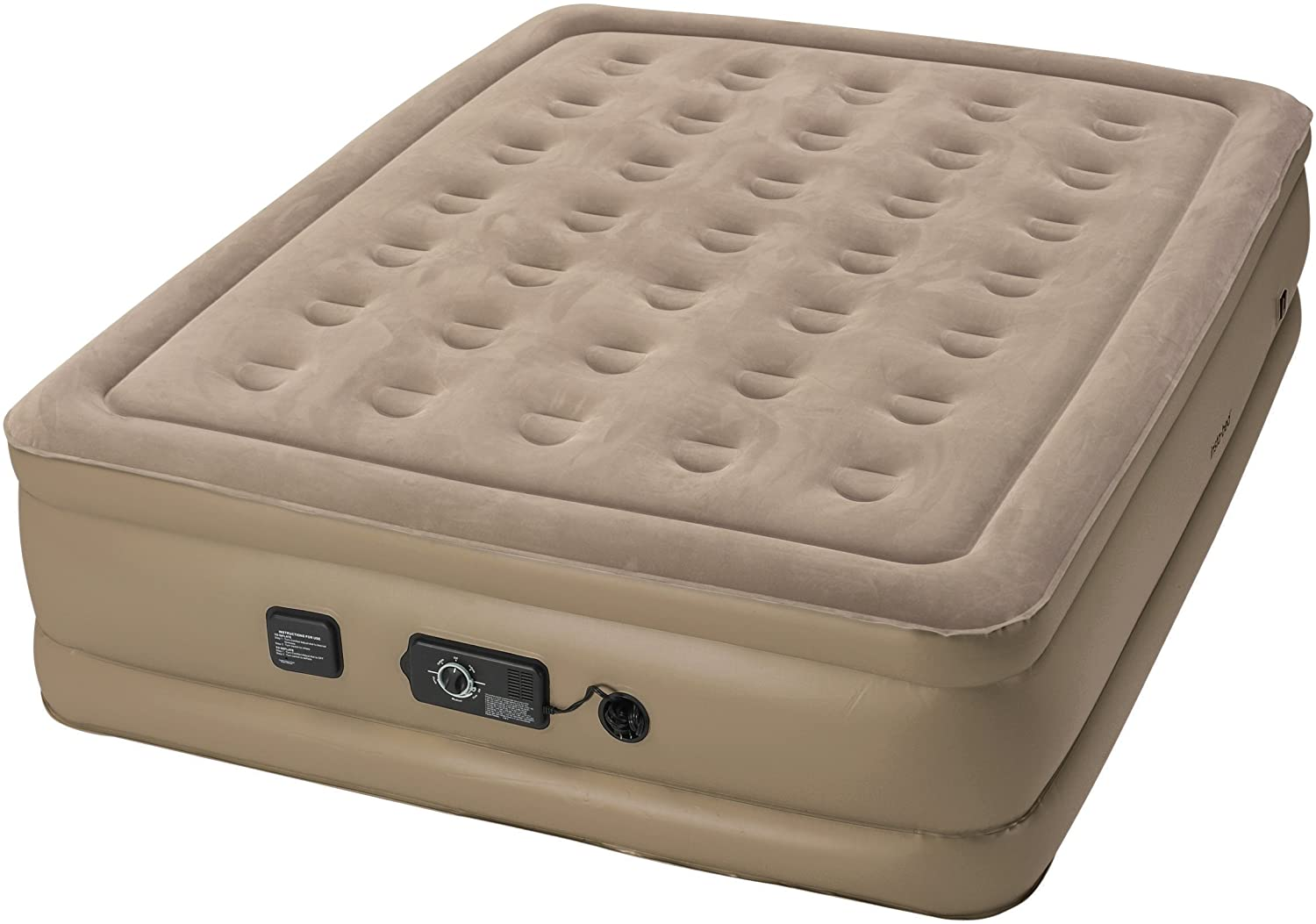 Insta-Bed Raised Never Flat Pump Air Mattress, Queen