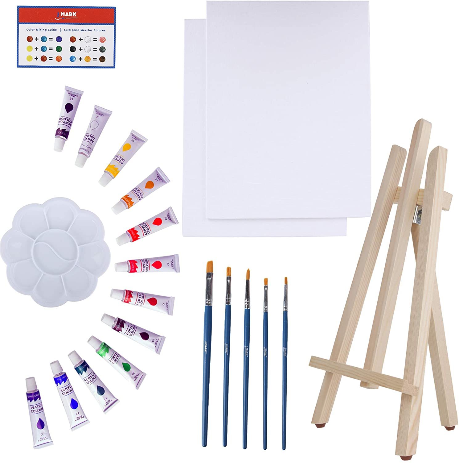 J Mark Canvas & Acrylic Painting Set