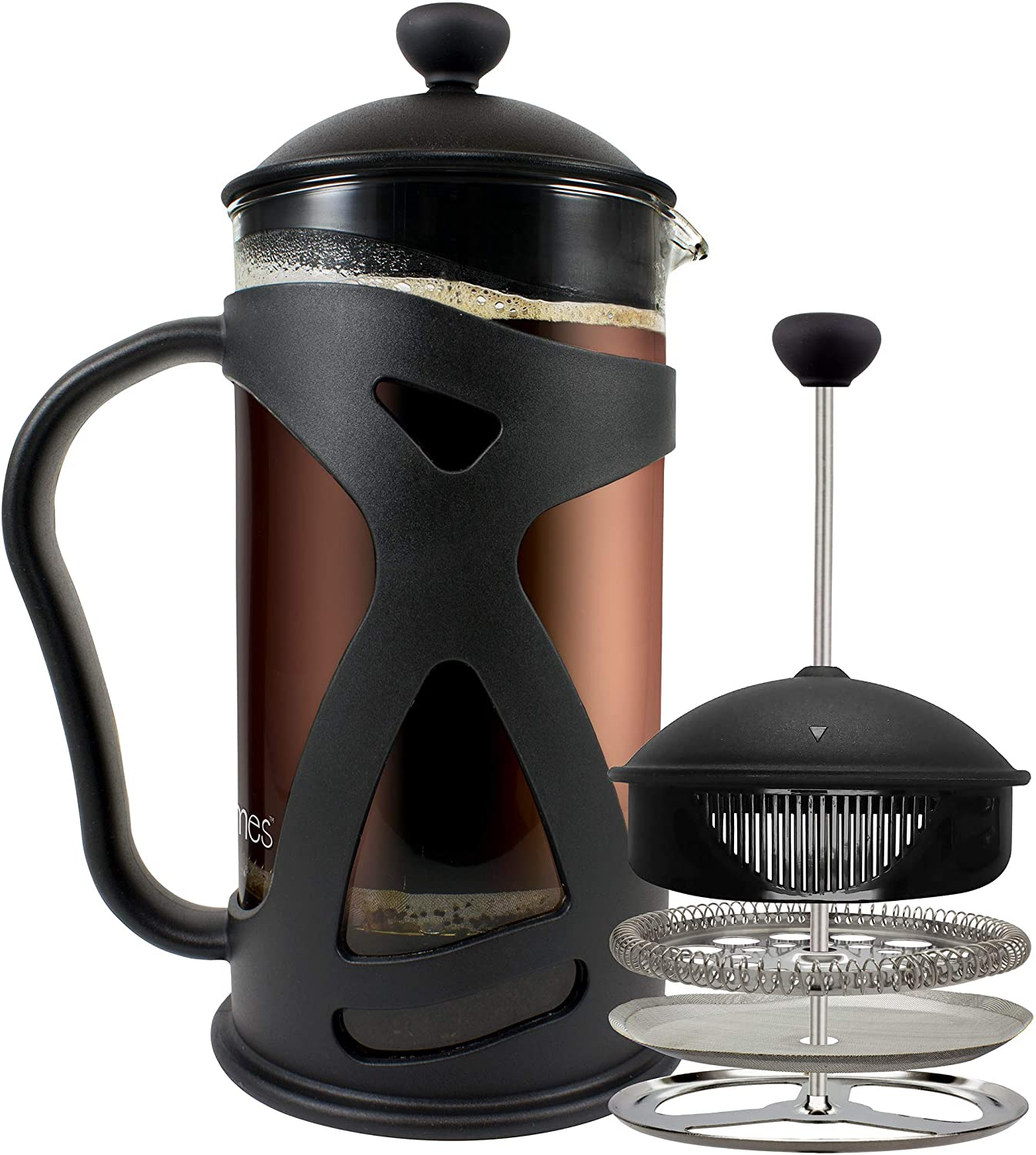 KONA Reusable Stainless Steel Filter Glass Protecting French Press
