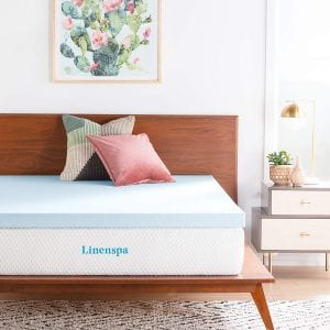 Linenspa Gel Infused Memory Foam Cooling Mattress Topper