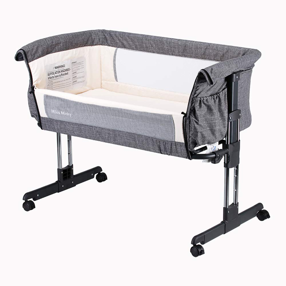 Mika Micky Folding Portable Bedside Bassinet For Baby