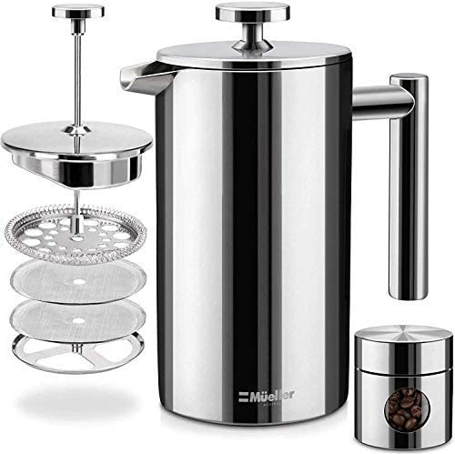 Mueller Austria 4-Level Filtering System French Press