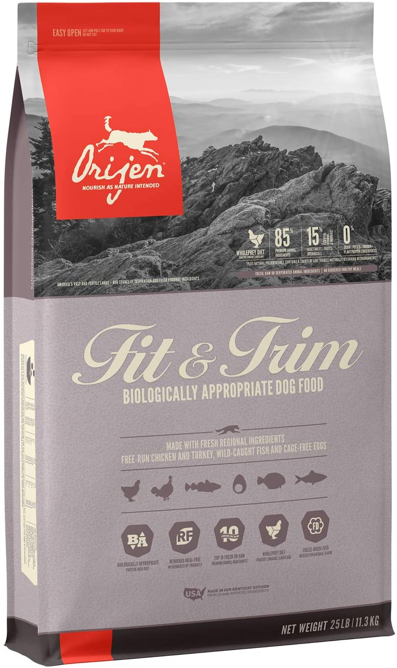 ORIJEN Fit & Trim High-Protein & Grain-Free Adult Dry Dog Food