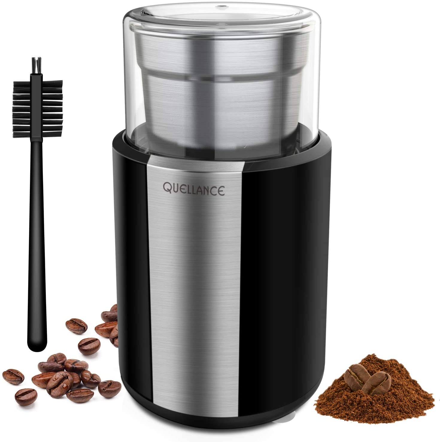 QUELLANCE Electric Coffee & Spice Grinder