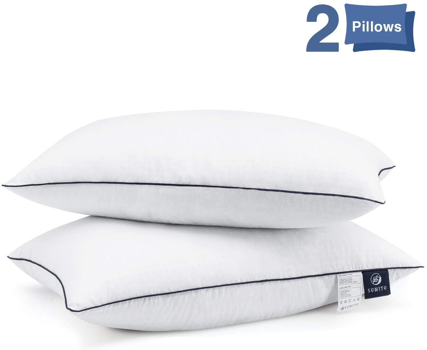 SUMITU Hypoallergenic Gel Hotel Pillows, 2-Pack