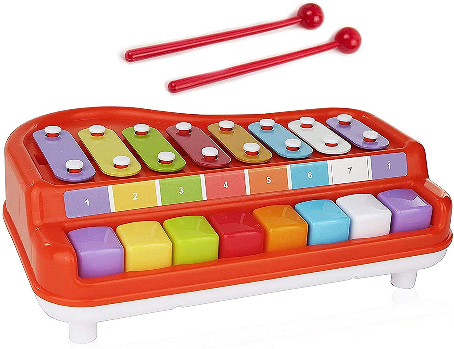 Toysery 2-In-1 Toy Piano Xylophone