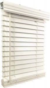 US Window And Floor Cordless Inside Mount Faux Wood Blinds