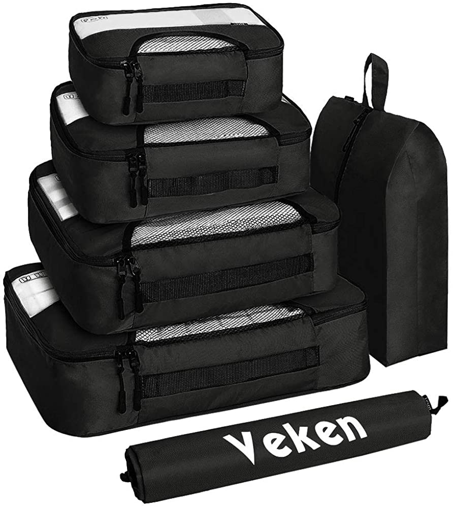 Veken Travel Packing Cube & Luggage Organizer Bag, 6-Piece