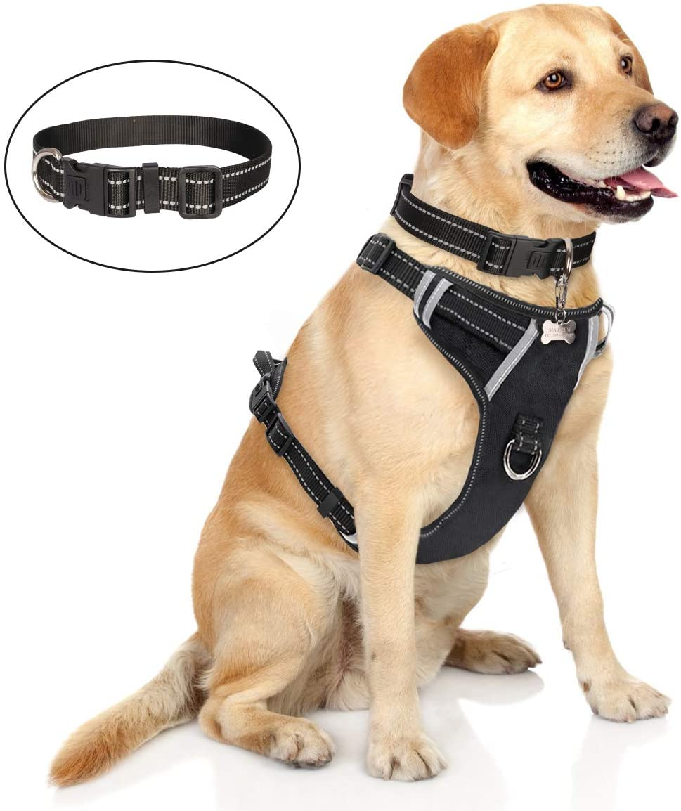 WINSEE No Pull Easy Control Large Dog Harness