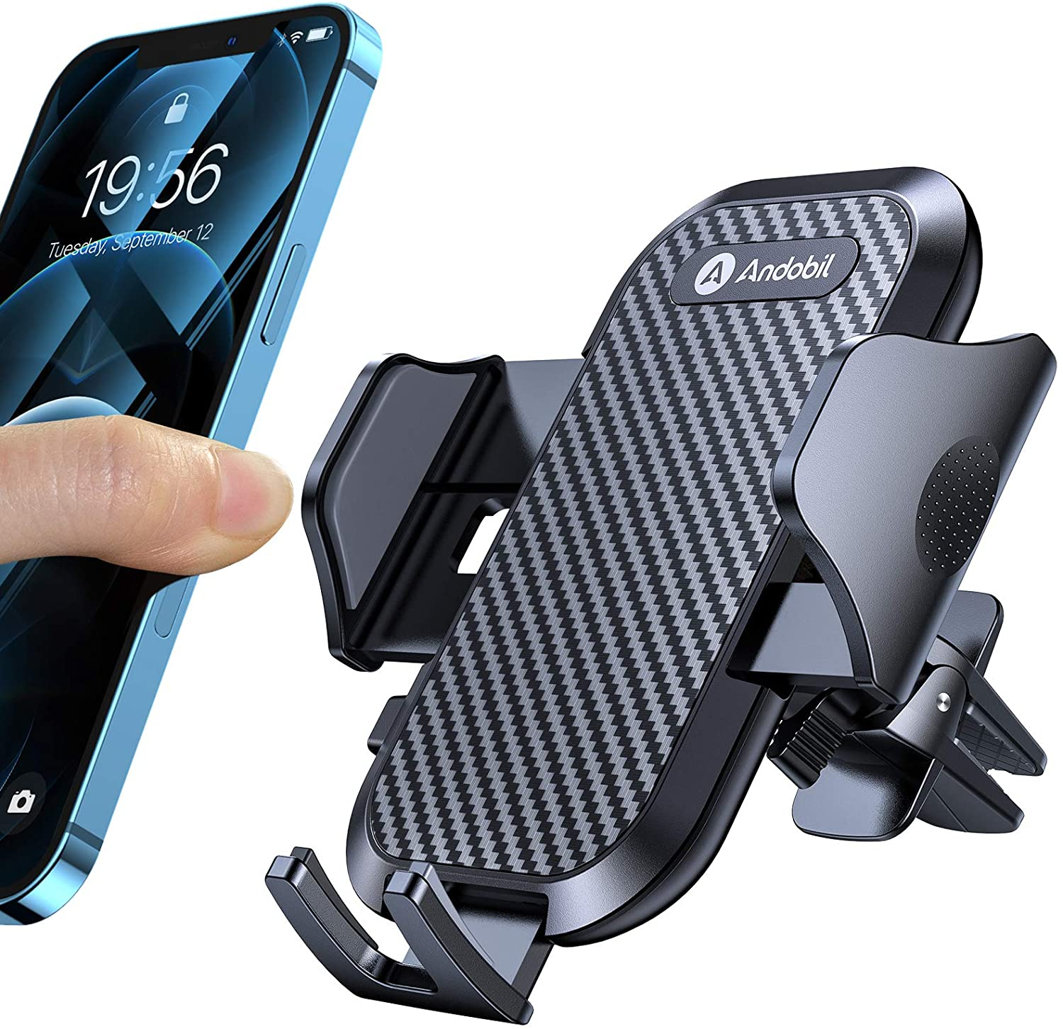 Andobil Hands-Free Easy Clamp Car Vent Phone Mount