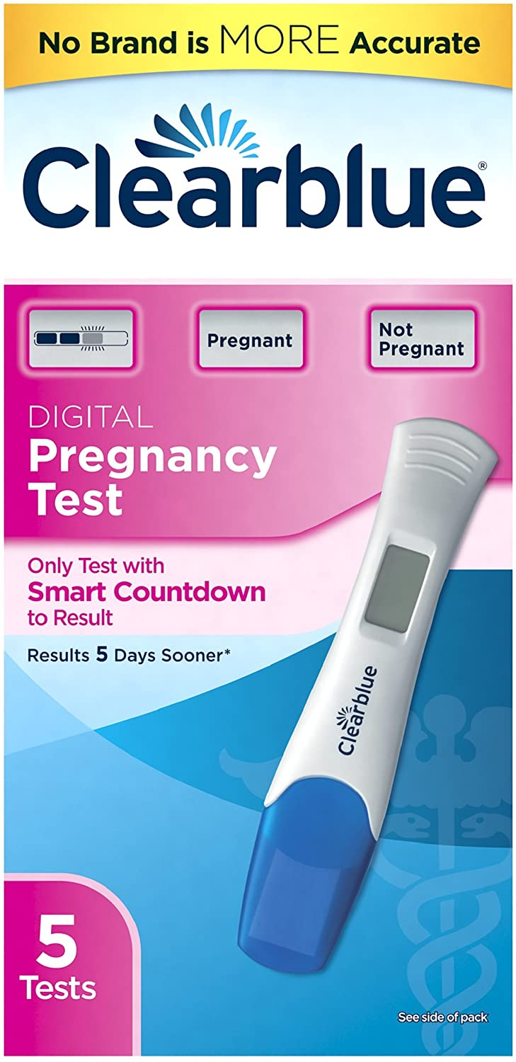 Clearblue Smart Countdown Digital Pregnancy Test, 5-Count