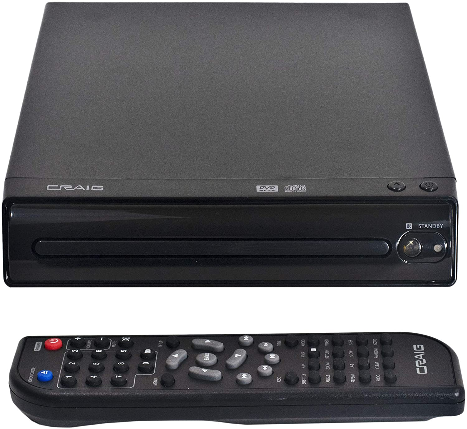 Craig CVD512a Multilingual Compact DVD Player
