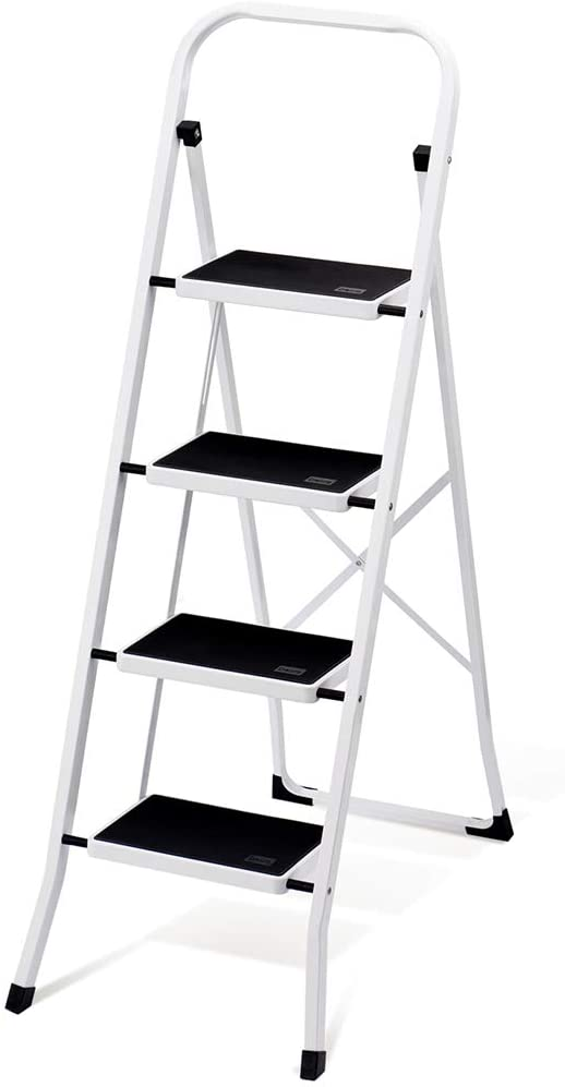 Delxo Anti-Slip Folding 4 Step Ladder
