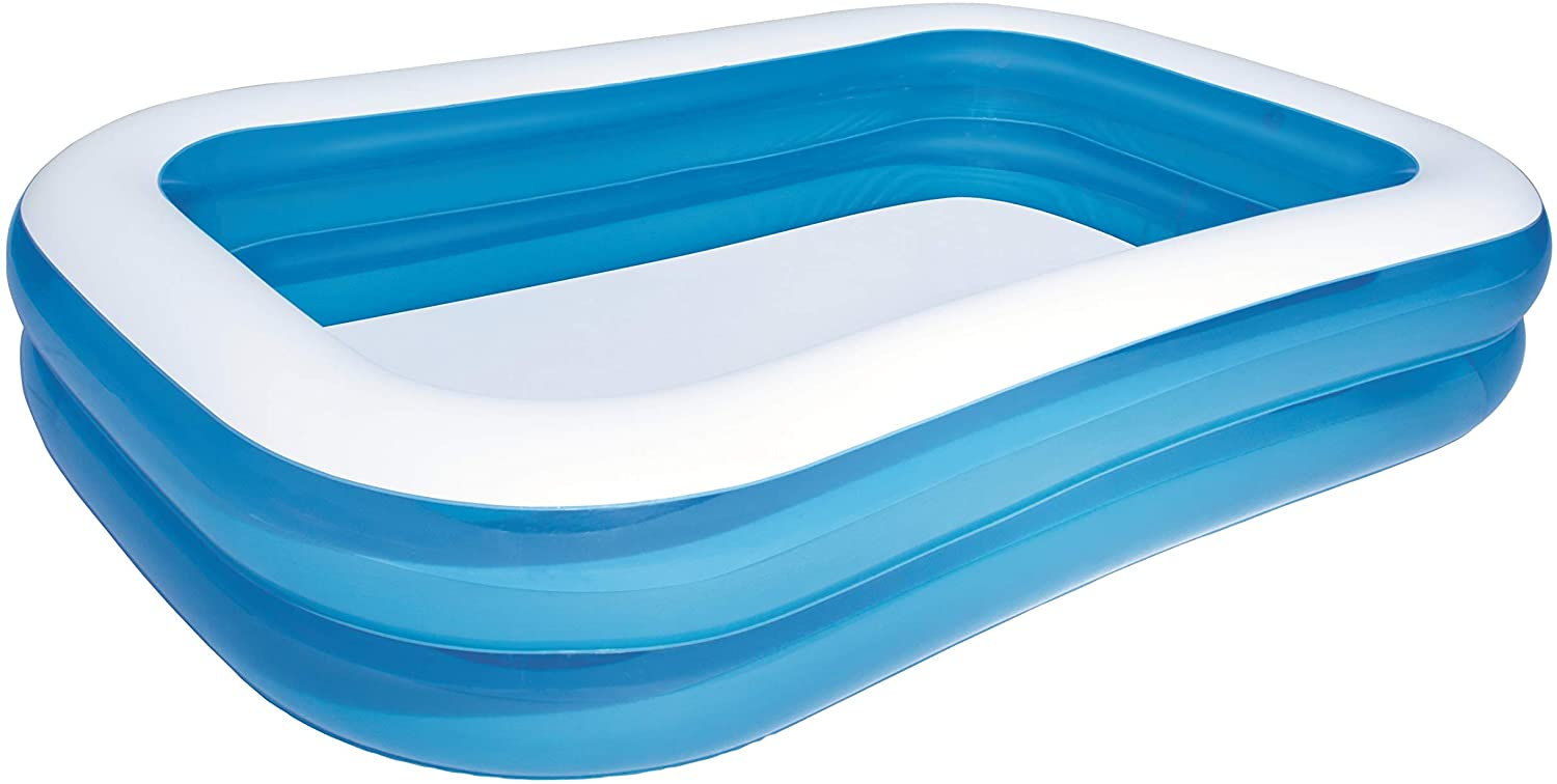 H2OGO! 103-Inch Blue Rectangular Inflatable Family Pool
