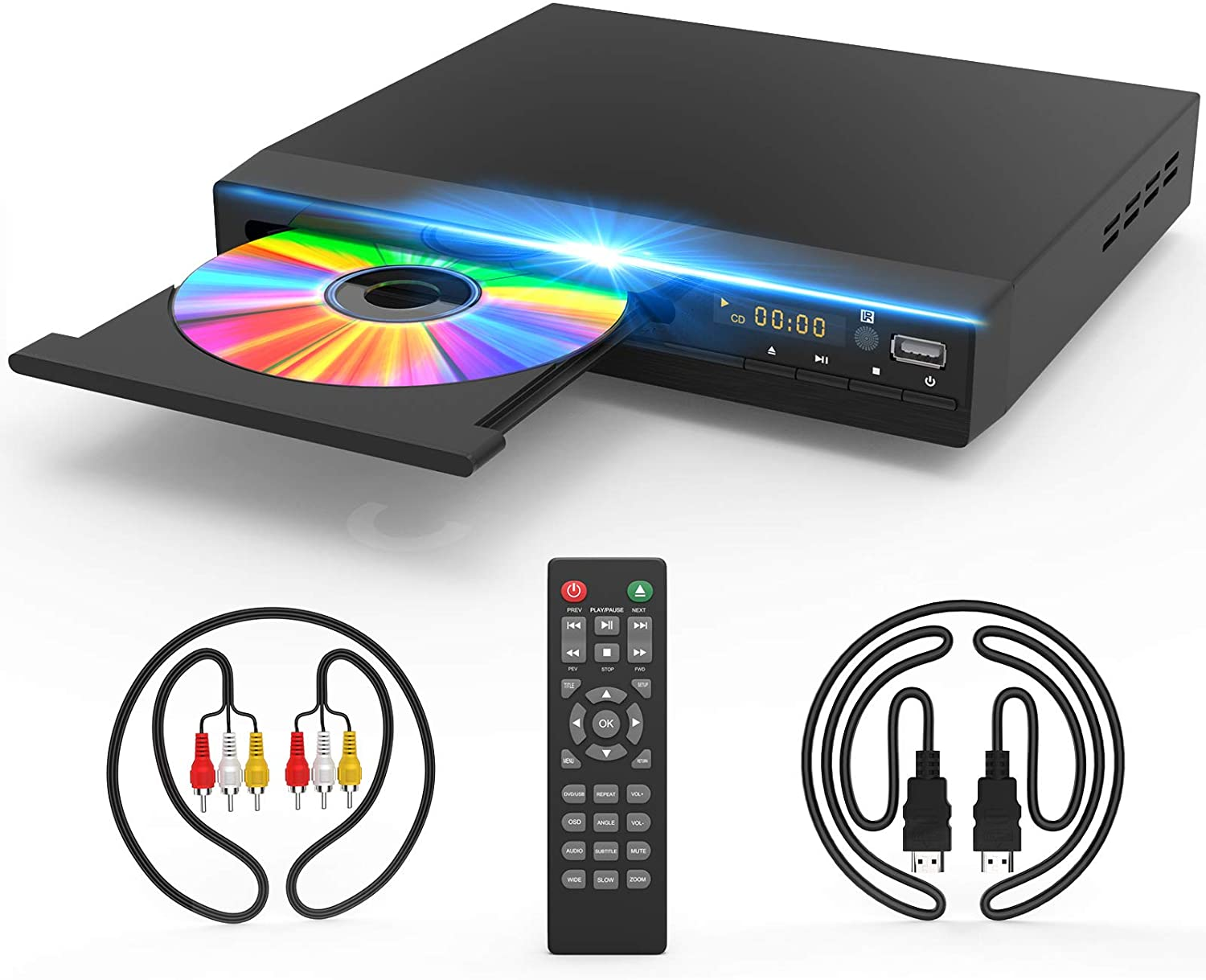 Jinhoo HD 1080p Upscaling HDMI & USB DVD Player