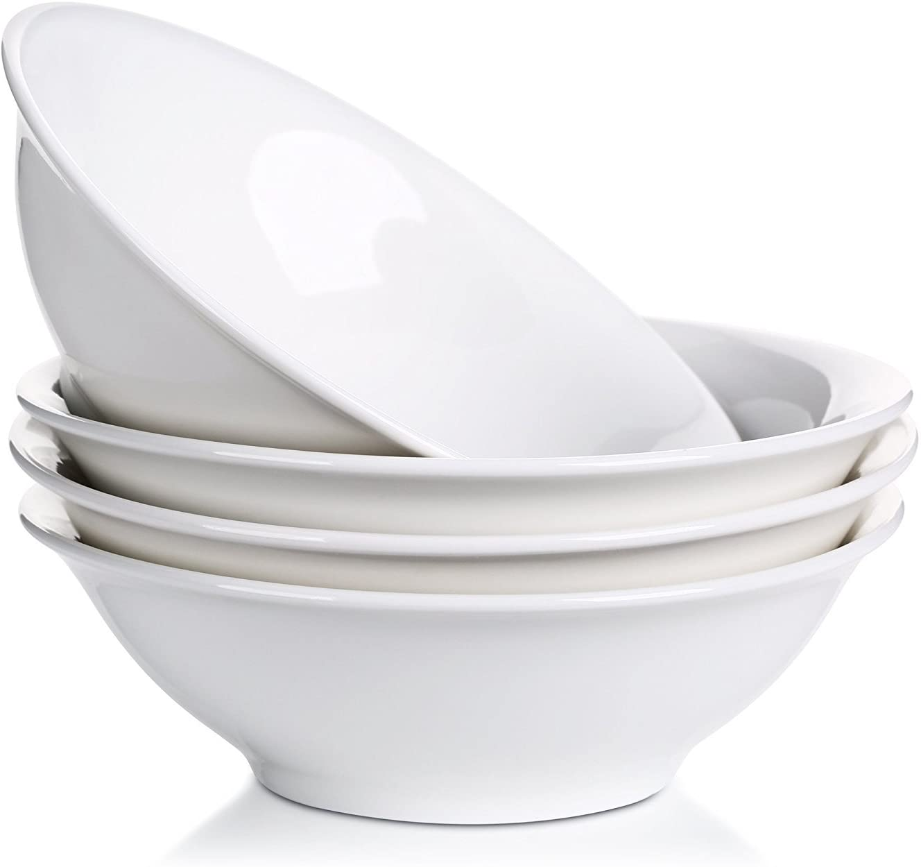 LIFVER Porcelain Salad Bowls, Set Of 4