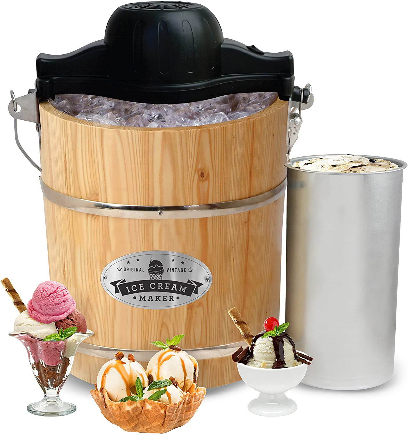 Maxi-Matic Manual Ice Cream Maker, 4-Quart