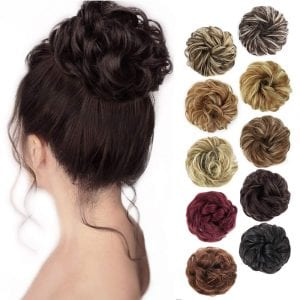 MORICA Synthetic Chignon Updo Hair Scrunchie