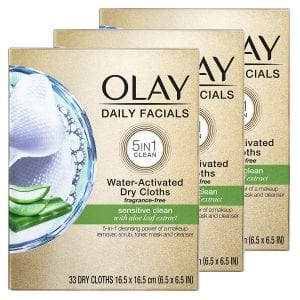 Olay Daily Facials 5-In-1 Sensitive Clean Face Wipes