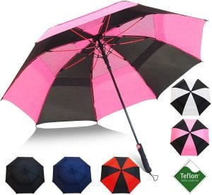 Repel Umbrella 60-Inch Double Vented Teflon Coated Golf Umbrella