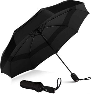 Repel Umbrella Teflon Double Vented Windproof Travel Umbrella