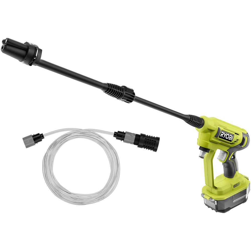 RYOBI RY120350 ONE+ 18-Volt 320 PSI 0.8 GPM Cold Water Cordless Power Cleaner