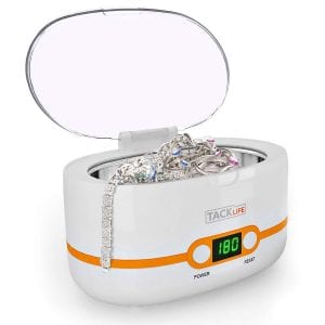Tacklife Compact Digital Ultrasonic Jewelry Cleaner