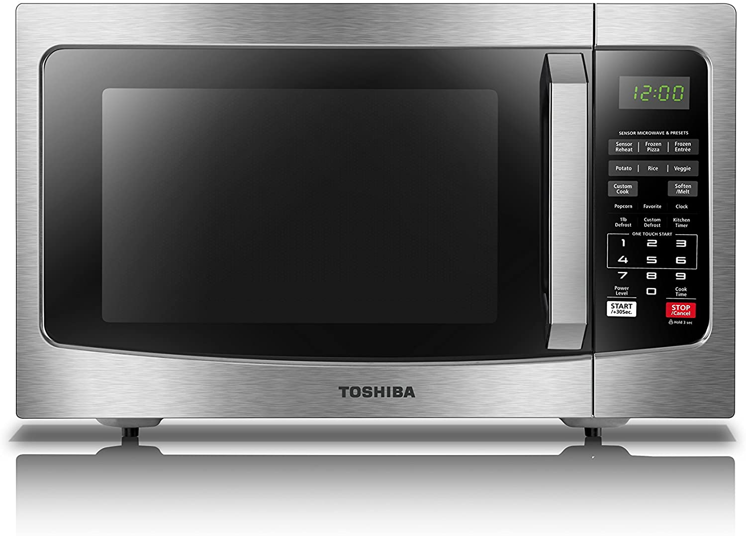 Toshiba EM131A5C-SS ECO Smart Stainless Microwave Oven, 1.2 Cu-Feet