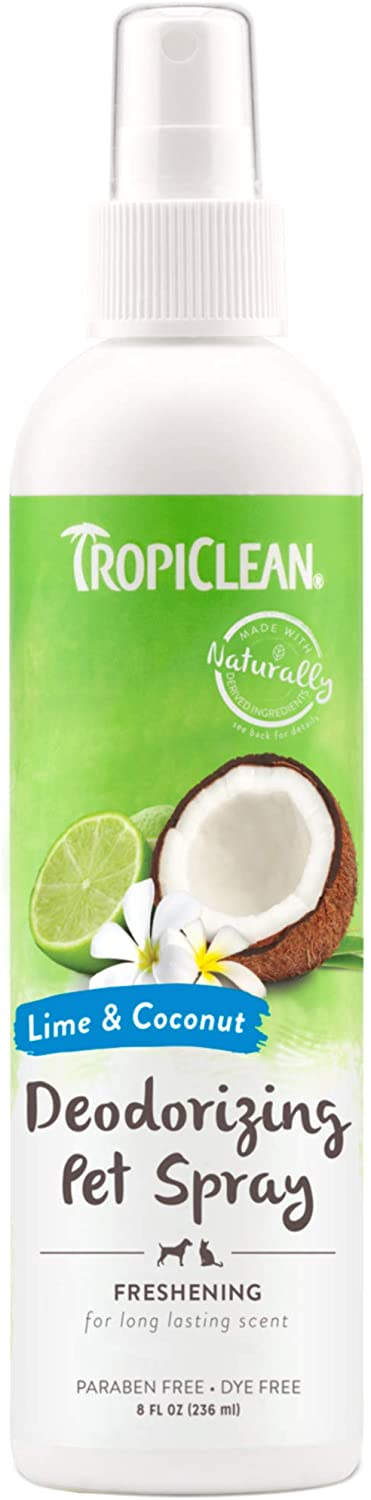 TropiClean Paraben Free Lime & Coconut Dog Deodorizing Spray