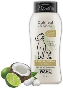 Wahl Dry Skin Itch Relief Oatmeal & Coconut Lime Pet Shampoo