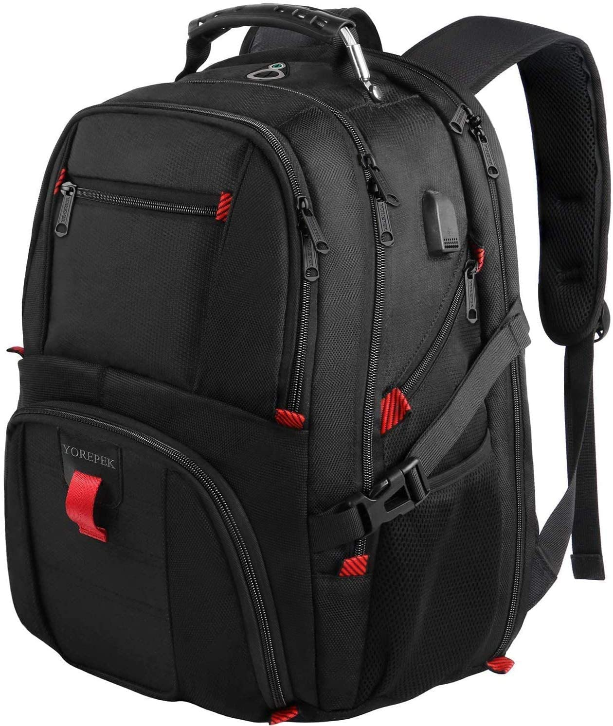 YOREPEK College Travel Laptop Backpack & USB Charging Port