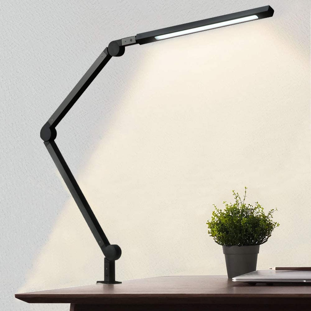 AmazLit Swing Arm Clamp Architect Desk Lamp