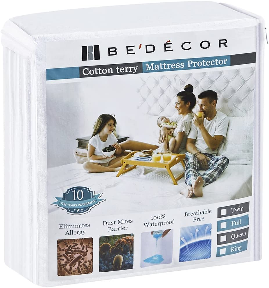Bedecor Waterproof & Breathable Queen Mattress Protector