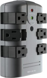 Belkin 6-Outlet Pivot-Plug In-Wall Surge Protector