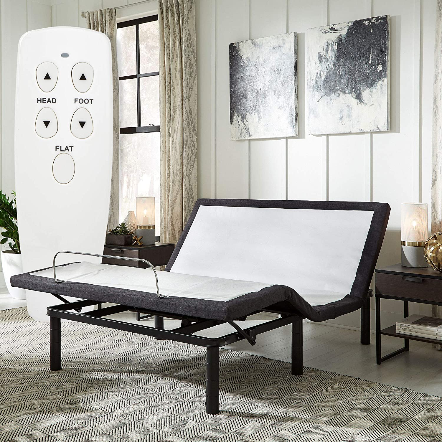 Blissful Nights Wireless Remote Adjustable Bed Base