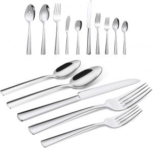 Brightown Silverware Flatware Cutlery Set, 65-Piece
