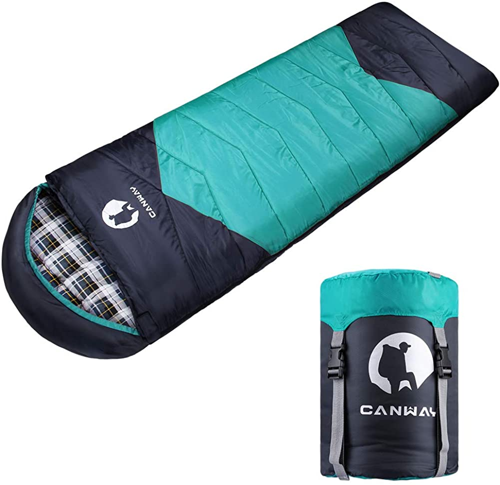 Canway Lightweight Flannel 4 Season Sleeping Bag