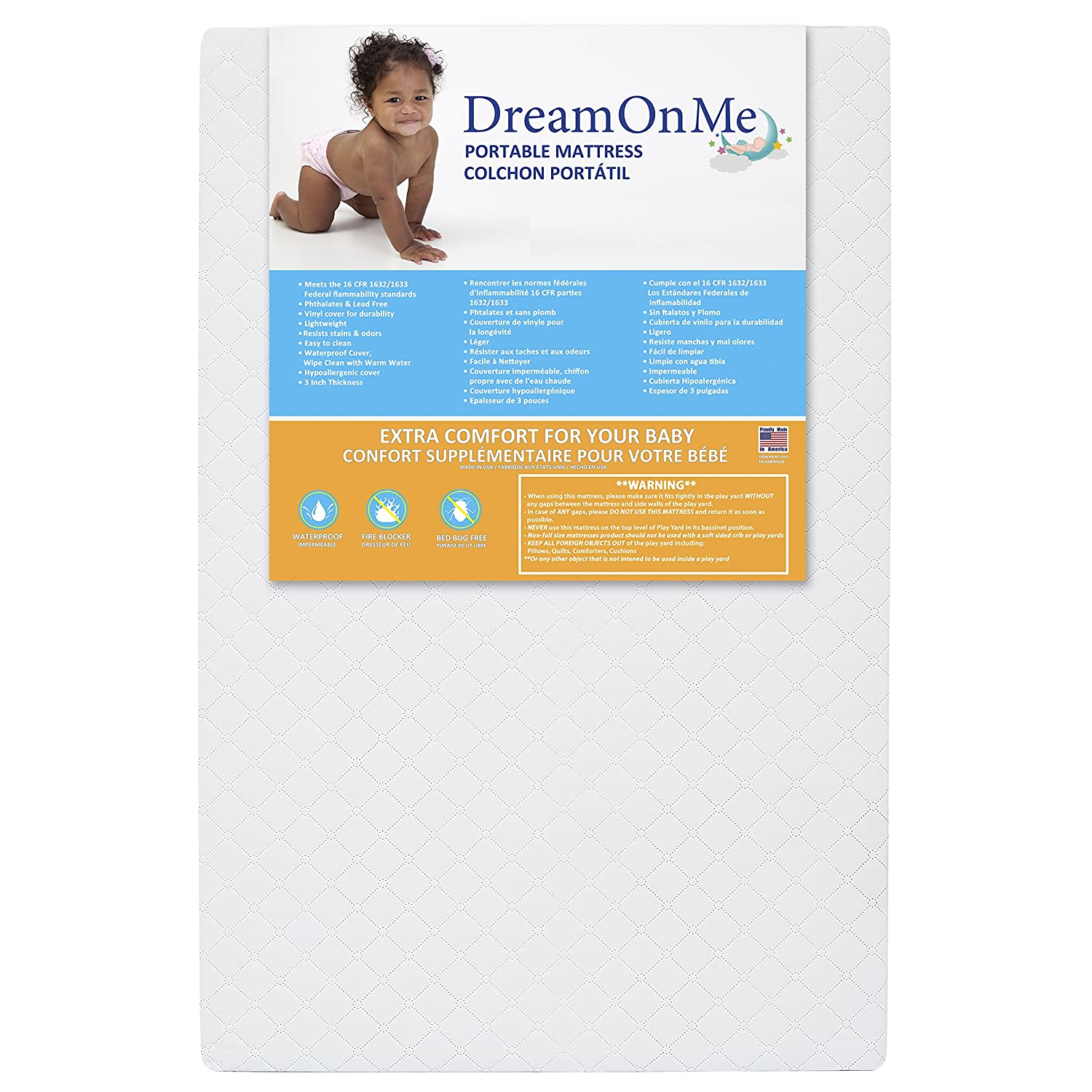 Dream On Me Sunset Extra Firm Portable/Mini Crib Mattress