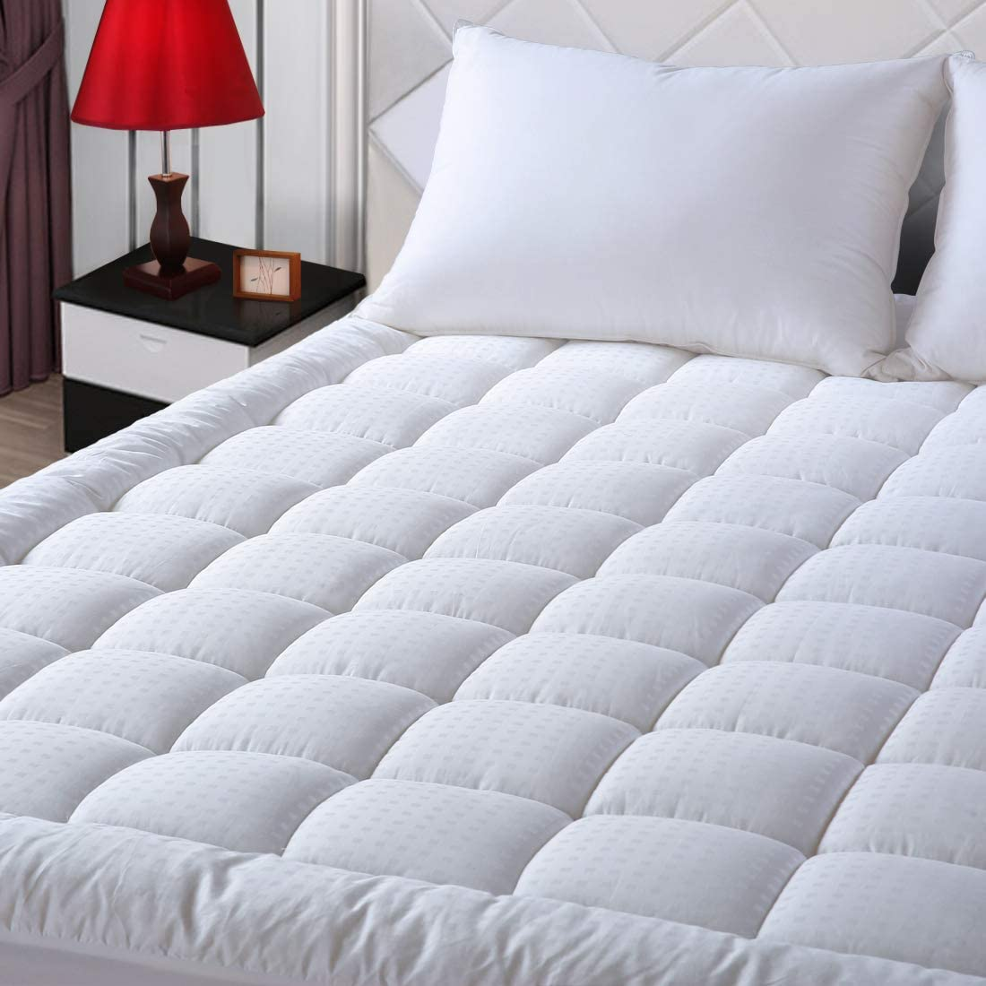 EASELAND Pillow Top Cooling Mattress Topper