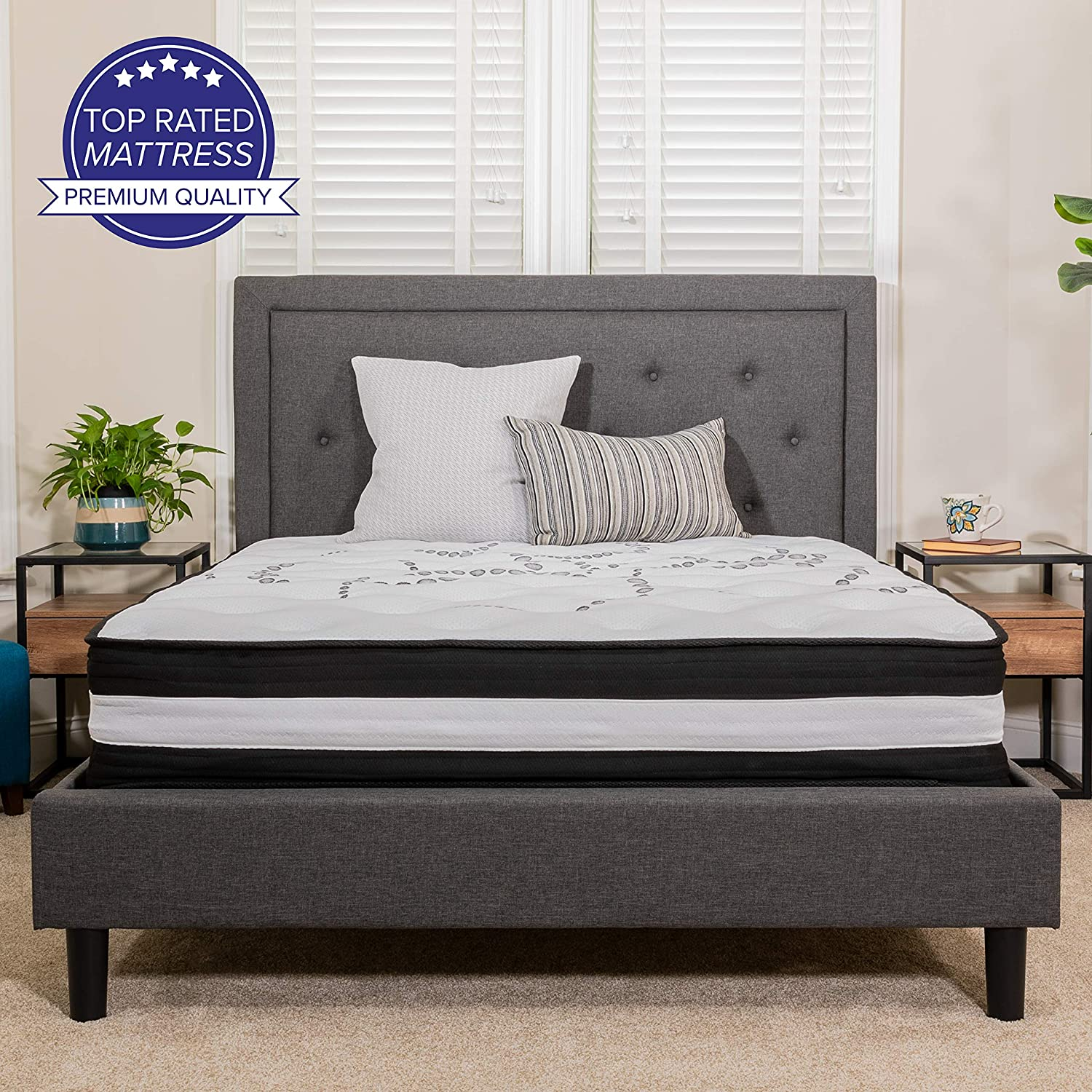 Flash Furniture Capri Memory Foam & Pocket Spring Queen Mattress