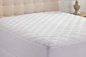 Hanna Kay Hypoallergenic Quilted Stretch-To-Fit Queen Mattress Pad