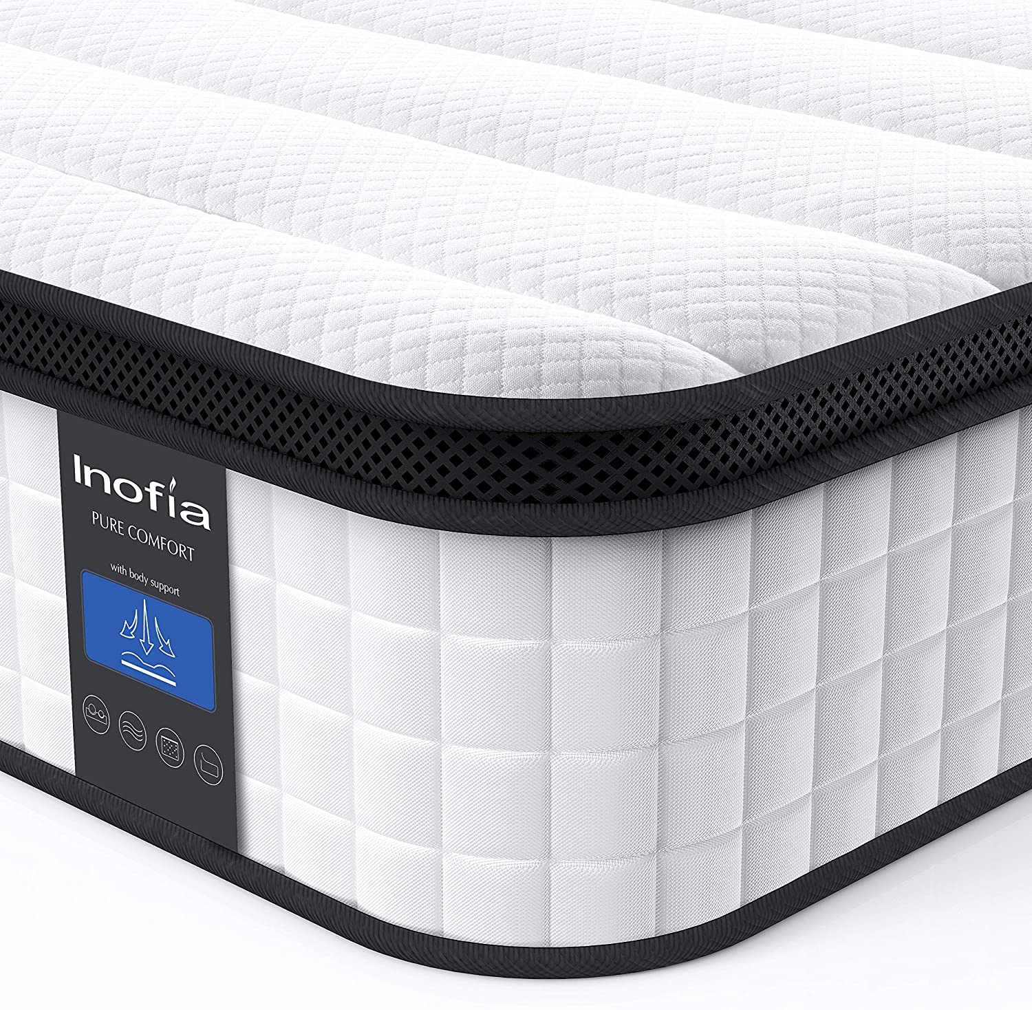 Inofia Breathable Innerspring Twin Hybrid Mattress